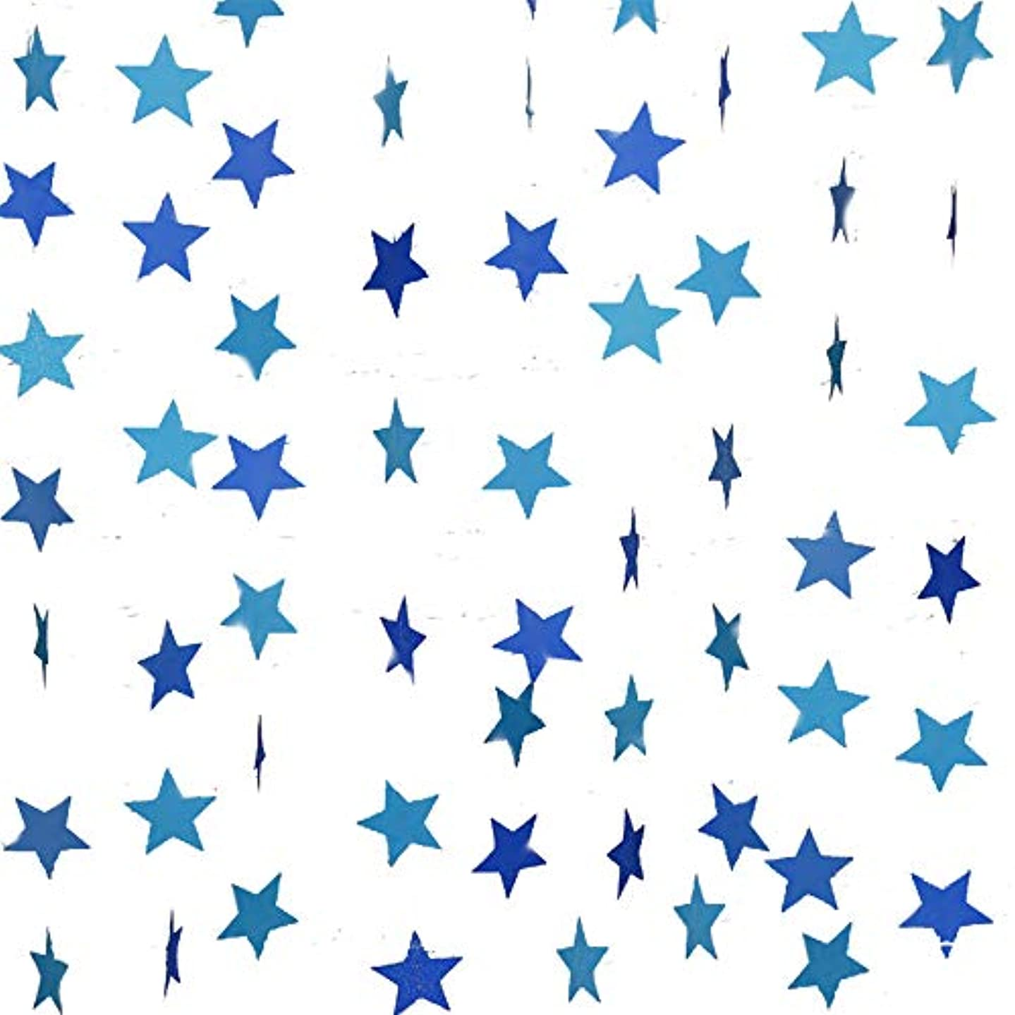 Gender Reveal Party Decorations 2pcs Twinkle, Twinkle Blue Paper Star Garland Star String Baby Shower Decorations, Birthday Decorations, Boy Girl Gender Reveal Party Supplies