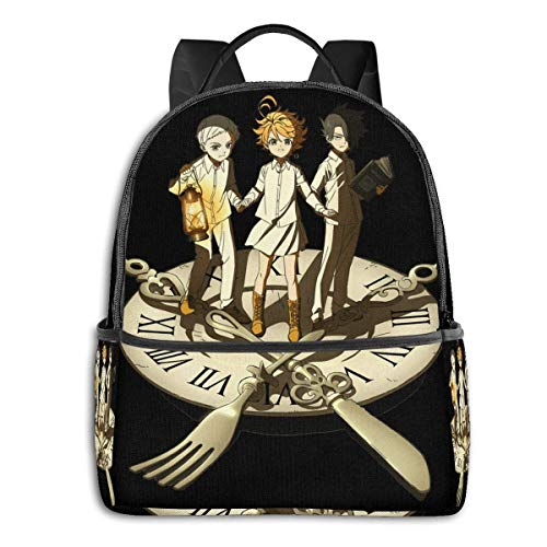 XCNGG Anime Emma,Ray Norman Trio The Promised Neverland Student School Bag School Cycling Leisure Travel Camping Outdoor Backpack
