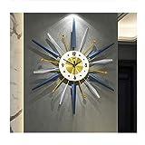 AMYZ Reloj de Pared con Marco de Metal Redondo,decoración de Pared de Reloj de Pared de Metal de Mediados de Siglo,decoración de Starburst Grande para el hogar,la Cocina,la Sala de Estar,la ofici