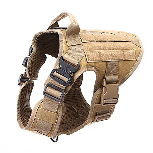 NCONCO Arnés para mascotas con asa para perro y cachorro, chaleco ajustable con panel Molle para entrenamiento y caza
