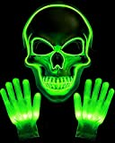 Halloween Mask LED Skeleton Mask Purge Hacker Mask...