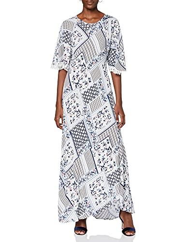Koton Damska letnia sukienka z frędzlami na obszyciu rękawów, sukienka na imprezę