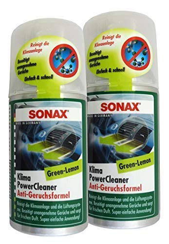 Preisjubel 2 x SONAX KlimaPowerCleaner Green-Lemmon 100ml, Klimaanlagen-Reiniger
