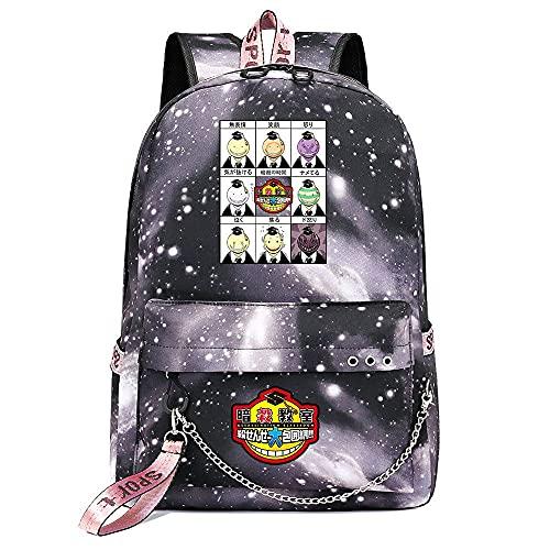ZZGOO-LL Assassination Classroom With chain USB Anime Zaini backpack Scuola per Uomo Donna, Lavoro, Tablet Unisex Gray-D