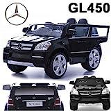 crooza Mercedes-Benz SUV GL450 GL 450 Jeep 12V Kinderauto Kinderfahrzeug Kinder Elektroauto (Schwarz)