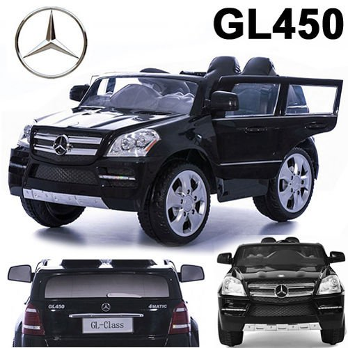 RC Auto kaufen Kinderauto Bild: crooza Mercedes-Benz SUV GL450 GL 450 Jeep 12V Kinderauto Kinderfahrzeug Kinder Elektroauto (Schwarz)*