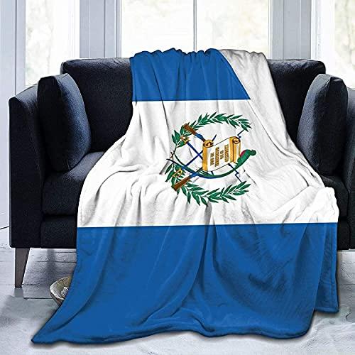 Manta de forro polar con bandera de Guatemala, de microfibra