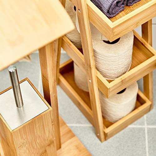 bambuswald© nachhaltiges Toilettenpapier aus 100% Bambus | 8x Rollen á 200 Blatt - 3 lagig sanft trocken & angenehm weich | holzfreies Klopapier in plastikfreier Verpackung | WC-Papier Toilet Paper - 9
