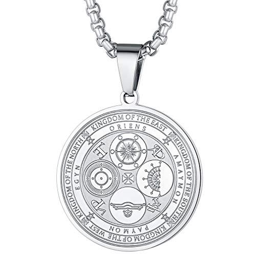 FaithHeart Silberkette mit Vier Erzengel Anhänger Religiöser Schmuck mit Geschenkebox für Damen und Mädchen
