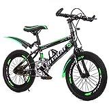 GZMUK Bicicleta Montaña 18,20,22,24 Pulgadas Bicicleta Infantil para Niños Y Niñas A Partir De 8 Años Bici De Montaña,Verde,24 in
