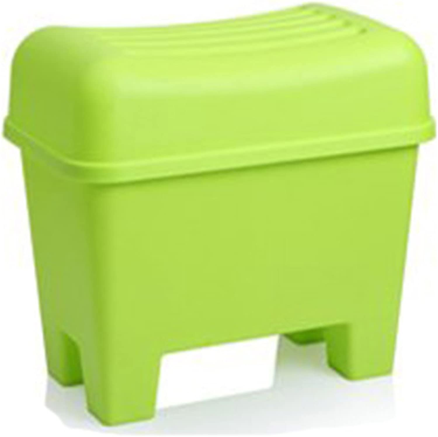 DINGDING Stools Plastic creative storage stool waterproof bathroom nonslip stool (color   Green)