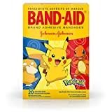 Band-Aid Brand Adhesive Bandages for Minor Cuts & Scrapes, Wound Care Featuring Pokemon Characters for Kids, Assorted Sizes 20 ct