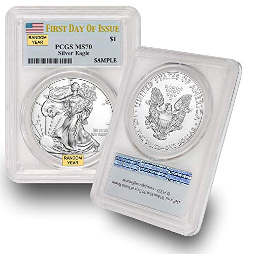 2016 - Present Silver American Eagle MS-70 (First Day of Issue) PCGS by CoinFolio $1 MS70 PCGS
