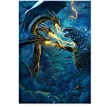 DPFRY Leinwand Malerei Wandkunst Bild Godzilla König Der