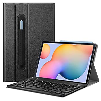 Fintie Keyboard Case for Samsung Galaxy Tab S6 Lite 10.4   2020 Model SM-P610  Wi-Fi  SM-P615  LTE  Slim Stand Cover with Secure S Pen Holder Detachable Wireless Bluetooth Keyboard Black