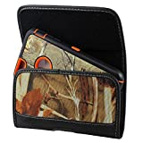 XXL Size Motorola Droid Turbo 2 / MAXX 2 Camouflage Rugged Heavy Duty Horizontal Holster Pouch with Belt Clip Case Cover (Fits Otter Box Defender/LIFEPROOF/Extended Battery or Thick Case On)