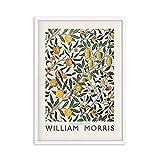 Póster de exposición de Victoria de impresión de William Morris, estilo de arte subterráneo de Londres, lienzo sin marco familiar, pintura A5 60x80cm