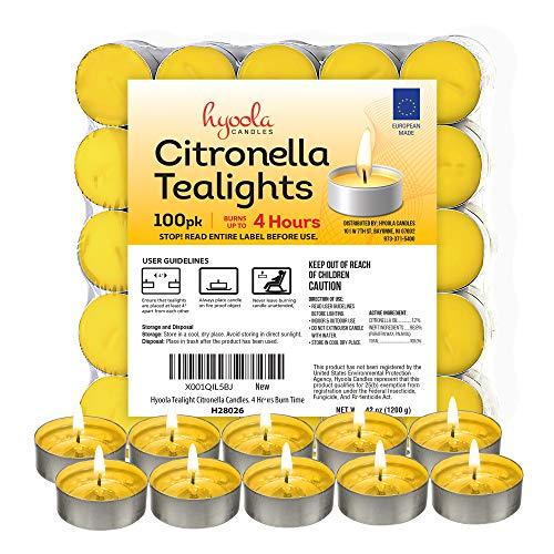 Hyoola Candles Velas de citronela (100 unidades)