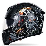 GAOZ Flip up Motorcycle Motorcycle Helmet, Anti-Glare Flip Up Dual Visors Modular Full Face Bluetooth Helmets Built-in...