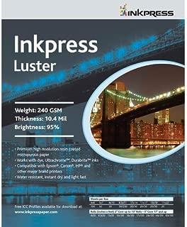 Inkpress Luster, Single Sided Inkjet Paper, 240gsm, 10.4 mil., 8.5x11