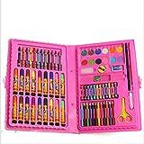 KNJF Set De Pluma Acuarela 86 Alumnos Pintura Grande del Sistema de la Caja del Cepillo Pluma de la Acuarela Niños Bellas Artes (Color : Pink)