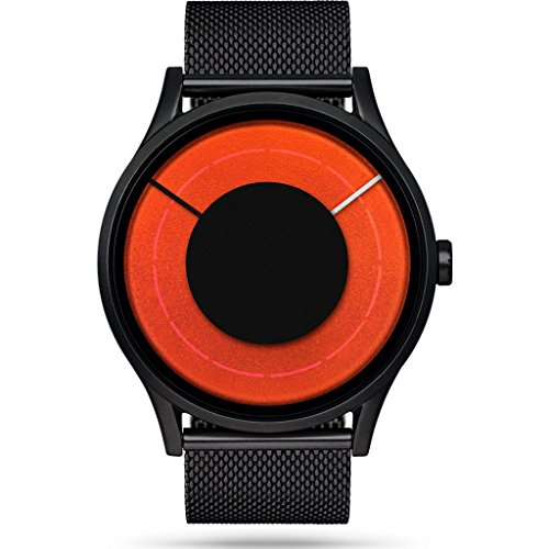 Ziiiro Solaris Black Blaze Z0014WBB Armbanduhr, Unisex, Orange