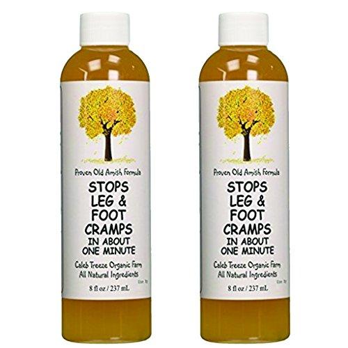 Caleb Treeze Organic Farms Stops Leg & Foot Cramps 8 oz (2 Pack) (2 Items)