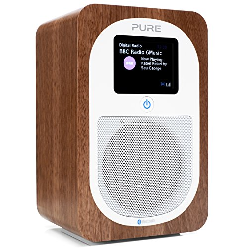 Pure Evoke H3 Bluetooth Digitalradio (DAB+, DAB, UKW, Bluetooth, Sleep-Timer, Weckfunktion, Countdown-Timer, 30 h Akkulaufzeit, Streaming, 40 Senderspeicherplätze, AUX), Walnuss