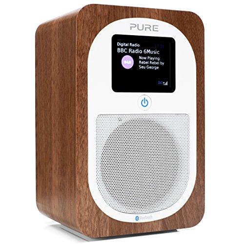 Pure Evoke H3 (DAB/DAB+ Digitale e Radio FM con Bluetooth e timer da cucina) Noce autentico