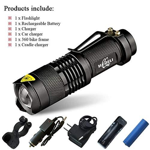Lot C, CREE XML T6 3000 lm : lampe torche LED rechargeable XM L T6 XM L2 étanche 3800 lm 5 modes lanterna camping lampe lampe torche 18650