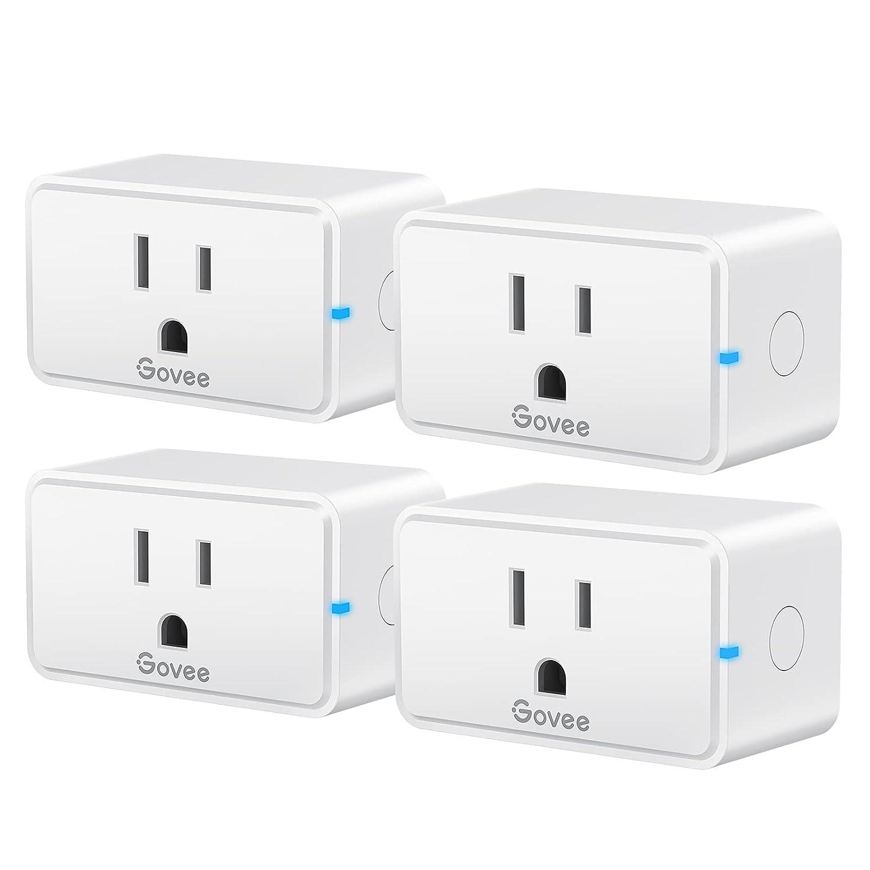 Govee Smart Plug WiFi Nashville-Davidson Mall 100% quality warranty Bluetooth Outlets Alexa Pack with 4 Work
