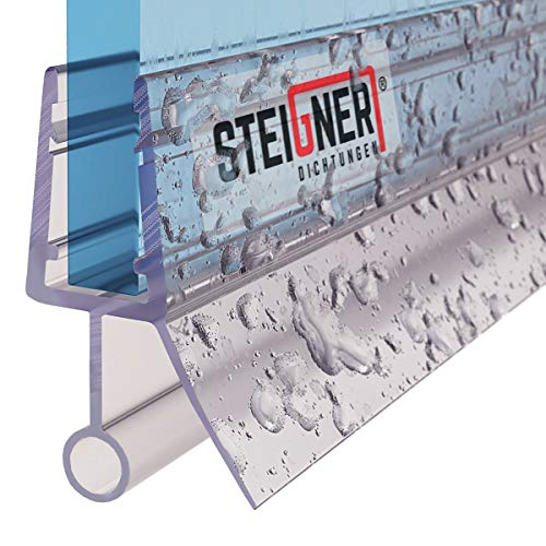 STEIGNER Duschdichtung, 90cm, Glasstärke 6/7/ 8 mm, Gerade PVC Ersatzdichtung für Dusche, UK08