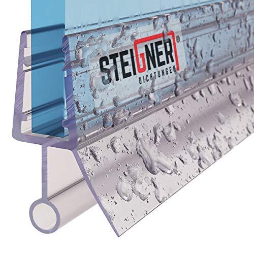 STEIGNER Duschdichtung, 60cm, Glasstärke 6/7/ 8 mm, Gerade PVC Ersatzdichtung für Dusche, UK08