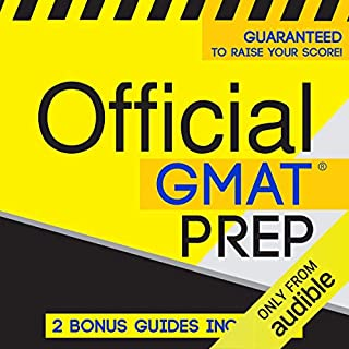 Official GMAT Prep audiobook cover art