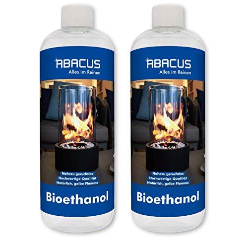 ABACUS 2X 1000 ml BIOETHANOL- Bio-Flamme Brennstoff Alkohol Brennalkohol Brennspiritus Spiritus Lampenbrennstoff Bio-Ethanol für Tischkamine (7070)