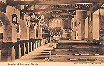Scotland, UK Old Vintage Antique Post Card Interior of Grasmere Church Unused