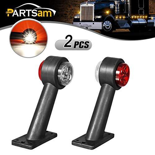 PARTSAM 2X Begrenzungsleuchte/Umrissleuchte/Positionsleuchte - 6LED pro Licht - 12V-24V - Seitenmarkierungsleuchten für Anhänger Auto LKW PKW KFZ