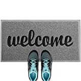 ANKO PVC Super Absorbent Outdoor Welcome MAT(30x18 inches) – Non-Slip Net Backing, Heavy Duty, Waterproof, Easy Clean, Low Profile Mat for Entry, Dust Trapper, Eco-Friendly