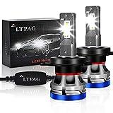 H4 LED, LTPAG Lampadine H4 LED 72W 12000LM Fari Abbaglianti o Anabbaglianti per Auto,12V-24V Nessuna Polarità Kit Lampada Sostituzione per Alogena Lampade e Xenon Luci -2 Anni Di Garanzia 6000K Bianco