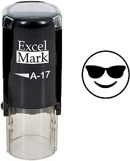 Round Teacher Stamp - Cool Shades Emoji - Black Ink