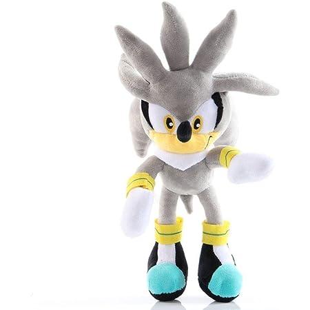 HHtoy Amy/Argento/Talsnak/Knuckles/miglia/Ombra Rosa Peluche Giocattoli Sonic The Hedgehog Anime Figure del Fumetto della Peluche del burattino 3+ Bambini farcito Molle Bambola di Compleanno