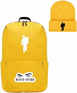 Topic Logo Beanie Knit Hat+Travel Outdoor Backpack Unisex Yellow
