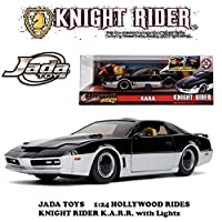 JADA TOYS ジェイダトイズ 1:24 Hollywood Rides KNIGHT RIDER K.A.R.R. with Lights ナイトライダー カール ミニカー