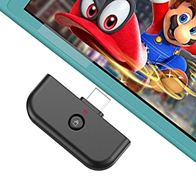 JAMSWALL Bluetooth Adapter for Nintendo Switch & Lite 2019, Bluetooth Audio Transmitter with USB TypeC Port; Wirelessly Connect Device to Bluetooth Headset,Supports All Bluetooth Headphones by JAMSWALL