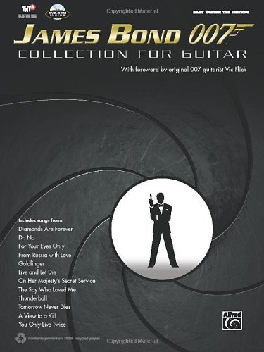 James Bond 007 Collection for Guitar: Easy Guitar Tab (Book & DVD-ROM) (Easy Guitar Tab Editions) by Alfred Publishing Staff (1-Jan-2013) Sheet music