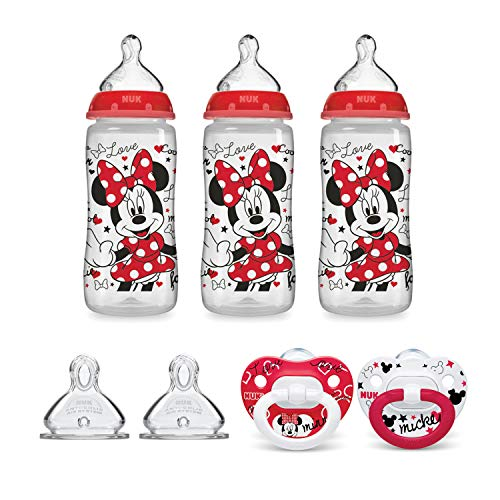 NUK Disney Baby Bottle & Pacifier Newborn Set, Minnie Mouse