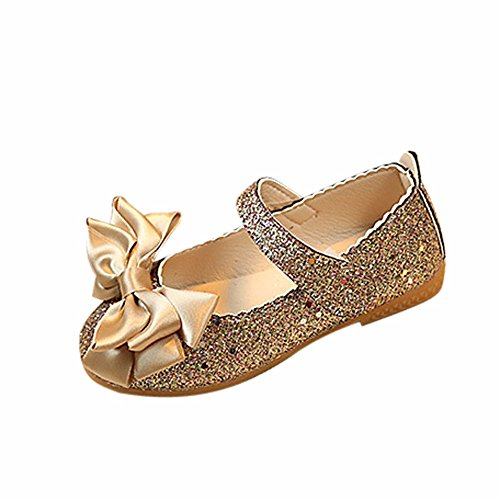 Kaister Mädchen Schuhe Mode Prinzessin Bowknot Dance Nubukleder Single Schuhe Babyschuhe
