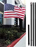 4Less 10ft Aluminum Outdoor Flag Pole KIT...