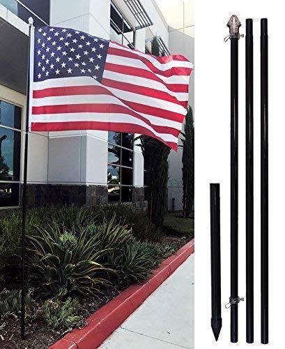 4Less 10ft Aluminum Outdoor Flag Pole KIT w/Ground...