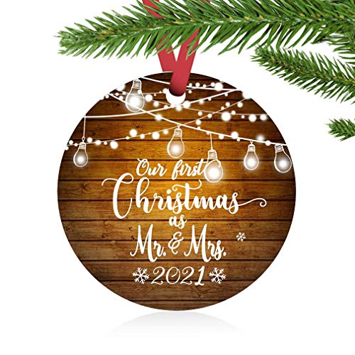 ZUNON First Christmas Ornaments 2020 Our First Christmas as Mr & Mrs...